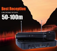 professional karaoke system - Professional WR Handheld Dynamic VHF Wireless Microphone System Mic Mike For Karaoke KTV Stage DJ Conference