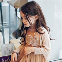 Wholesale Pinkideal Spring New Girl Cardigan Round Collar Solid Color Long Sleeve Sweater T