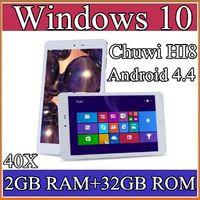 "Cheap 40X Chuwi HI8 Tablet PC Dual OS Windows 10 & Android 4.4 Dual Boots Bay Trail Z3736F 2GB 32GB Quad Core 8"" 1920x1200 IPS BT OTG 2-8PB"