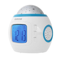 alarm power supply - Music And Starry Sky Calendar Alarm Clock Laser Star Moon Projector Light AAA Battery Power Supply Music Color Changing Light Clock