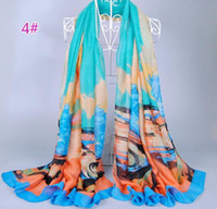 Wholesale Scarfs for Women s Spain Warm Soft Scarf Shawl Cotton Voile Lady Print Brand Scarves Shawl Autumn Winter Wrap Scarf Colors