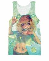 animated lemons - w151231 RuiYi Lemons Tank Top adorably animated illustration style Casual Vest Fashion Clothing tee Jersey Shirt For Women Men Plus Size