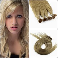 cold fusion hair extensions - 24 g quot Cold fusion dark blonde A grade stick I Tip remy brazilian hair extensions pre bonded human Italian keratin