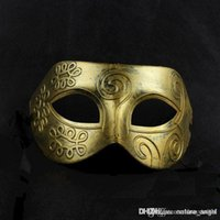Wholesale 15pcs Men s retro Greco Roman Gladiator masquerade masks Vintage Golden Silver Mask silver Carnival Mask Mens Halloween Costume Party M