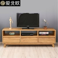 Wholesale Simple solid wood TV cabinet household modern TV cabinet with drawer