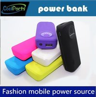 Cheap Genuine direct Free shipping Rubber open toe powerbank 5600mah general 5600 charger power bank small fish head 5600 mAh Universal Power bank