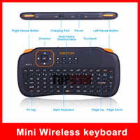 Wholesale Mini wireless keyboard Ghz with Touchpad Handheld Keyboard for Windows PC Android TV IPOD Laptop Tablet Projector Smartphone