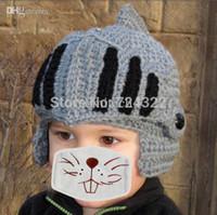baby ski mask - 2015 New Funny handmade kids children cap baby hat Beard Octopus cap Roman knight hat crochet beanie ski mask hat