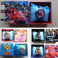 Wholesale Bracelets Watches Wristwatch Crystal Luxury Watch Minions Big Hero Ninja Turtle For Kids Children Styles Mixed Order Free DHL Factory