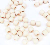 Wholesale 1000pcs bleach Wood Beads mm big hole mm Wood Beads Wooden Beads
