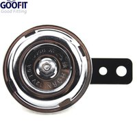 Wholesale GOOFIT v Brushed Chrome Universal Mini Horn for Motorcycles Harley and Metric H052