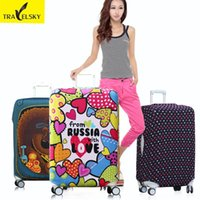 Wholesale travel luggage trolley sleeve protective bag sets inch thick waterproof M code