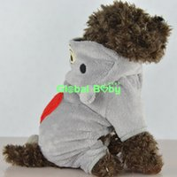 Wholesale Gray Pink Four Legs Love Bear Styles Dog Pet Puppy Warm Cotton Coat Clothing Apparel