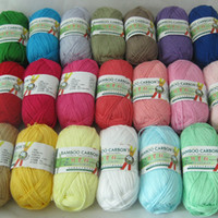 Wholesale 500g Soft Smooth Natural Bamboo Cotton Hand Knitting Yarn Baby Cotton Yarn Knitted By mm Needles free shiping