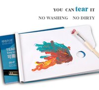 alternative paper - Watercolor Palette oil paiting palette Art Alternatives Paint Tray Artist Plastic Supply White cm cm teared palette paper