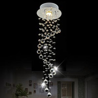 Wholesale Modern Clear Waterford Spiral Sphere LED Lustre Crystal Chandelier Ceiling Lamp Home Decor Suspension Pendant Lamp Fixture Light