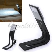 Wholesale Flexible Portable White LED Clip On Reading Book Travel Night Light Lamp for Ereader