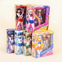 15cm 6inches japonais Anime Sailor Moon Mercury Mars Venus PVC Toy Action Figure Poup? E des Enfants