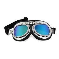 Wholesale LJP700 Vintage Style Aviator Pilot Motor Motorcycle Goggles Helmet Colorful Glasses