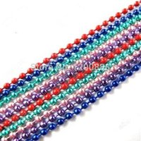 Wholesale 70cm quot Color Steel mm Ball Chain Necklace Colors Q155