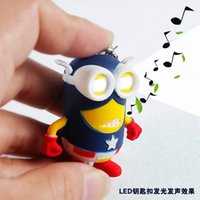 animal love sayings - 2015 new arrive Despicable me minions LED Keychain talk minions press button say I love you gift for lovers christmas gift key rings