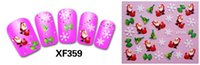 Wholesale 2015 new style XF359 XF Merry Chrismas D Nail Sticke Nail Water Decal Art Beauty Decoration Stickers