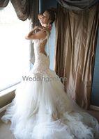 galia lahav wedding dresses - Galia Lahav Sexy Mermaid Lace Wedding Dresses New Design Gorgeous Beading Pearls See Through Back Vintage Bridal Gowns Court Train
