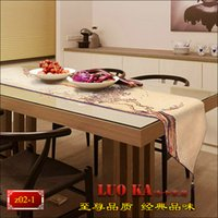 Wholesale Gifts new Chinese landscape table cloth table runner bed coverings modern coffee table Triangle flag hanging Sui custom