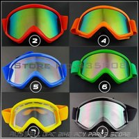 atv wear - new Motorcycle Goggles Glass Waterproof Eye Wear Motocross ATV MX Off Road Glasses colored lenses for eyes