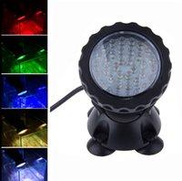 Wholesale LED Underwater Spot Light Multicolor Lamp Lighting For Water Aquarium Garden Pond Fish Tank V Multicolor RGB Changing