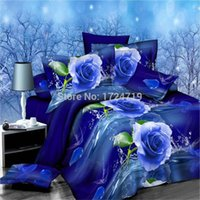 Wholesale hot D bedding sets king size bed linen include duvet cover bed sheet pillow cases reactive printing comforter bedding set