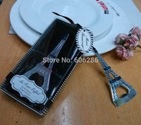 Wholesale Unique Event Party Supplies of Eiffel Tower Desing Beer Bottle Opener Wedding Favor Souvenir
