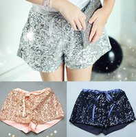 Wholesale girls summer shorts girls sequin shorts Children Sparkling Shining bright Above knee short mini shorts pants in stock