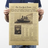 bar history - history the New York Times leather and old newspapers class decorative painting bar x35 cm classic poster vintage retro
