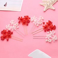 asian hair pieces - Whosale In Stock Shinning Pearls Wedding Accessories Evening Party Women Clips Barrettes Hair Pieces Flowers Girl Gifts WWL
