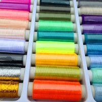 Wholesale Hot New Sale set Polyester Sewing Thread Yard Mix Clours For Hand Machine Free of Charge Value of Sewing Needle Box