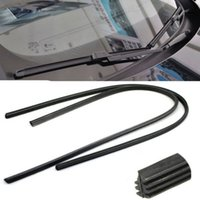 Wholesale 2 X Universal Black Car Styling AccessoriesVehicle Frameless Replacement Rubber Wiper Blade Refill quot mm Wipers gm176