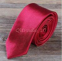 Wholesale 9999lot CCA3358 Hot Sale Colors cm Narrow Version NeckTie Men s Tie Custom made NeckTie Leisure Arrow Necktie Skinny Solid Color Tie