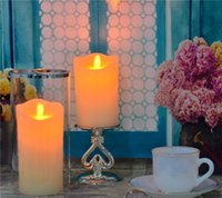 color flame - electric candle warmers LED Candle candle wick olor changing coper candle jar with moving wick for home decoration