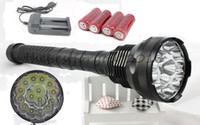 Wholesale Free DHL lm x CREE T6 LED Flashlight Torch x26650 mAh Batteries Charger t6 LED Flash Lights Tactical Lamp