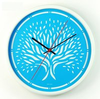 beautiful things - beautiful clock wall Pastoral plant Metal wall clock gave birth to all things clocks vintage home decoration clock watch blue