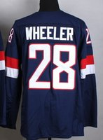 usa hockey jersey - 2015 new Fashion USA WHEELER Navy Blue Stitched Jerseys Season Hockey jerseys Cheap High quality Ice Hockey jersey Discount Hockey Wear