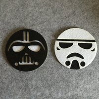 Wholesale Star Wars Double deck non woven fabrics paragraph silica gel insulation mat cup heat insulation pad
