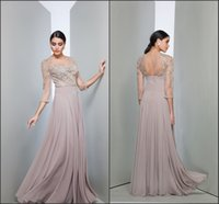 bac black - Long Sleeve Mother of the Bride Dresses Sheer Jewel Neck Illusion Bac k with Beads Appliques A Line Chiffon Party Gowns BO9903