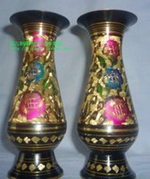 antique pakistan - Bronze Pakistan imported bronze vase inch colorful Japanese style vase antique