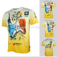 Cheap Short Tour de France men cycling shirts Best Anti Bacterial Men bicycle short sleeves running quick dry