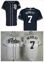 bench shirt - 2015 New Cheap San Diego Padres Chase Headley white black men s cool base baseball jersey shirt Johnny Bench baseball shirt
