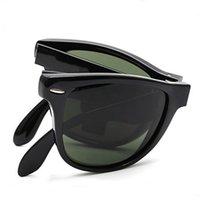 retro style sunglasses - Top Quality Retro Design Unisex Folding Sun glasses Women Men Sunglasses Brand Original Summer Style Vintage Glasses With Box