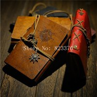 Wholesale DHL Freeshipping Vintage Regal Leather Blank Pages Notebook Diary Journal Memo Notepad
