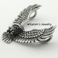 silver eagle - Silver L Stainless Steel Eagle Pendant Necklace Anime Animals Biker Jewellery Mens Fashion Jewelry KP006